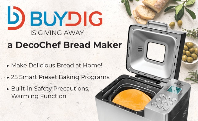 Beach Trading Co. Buydig Deco Gear Breadmaker Giveaway