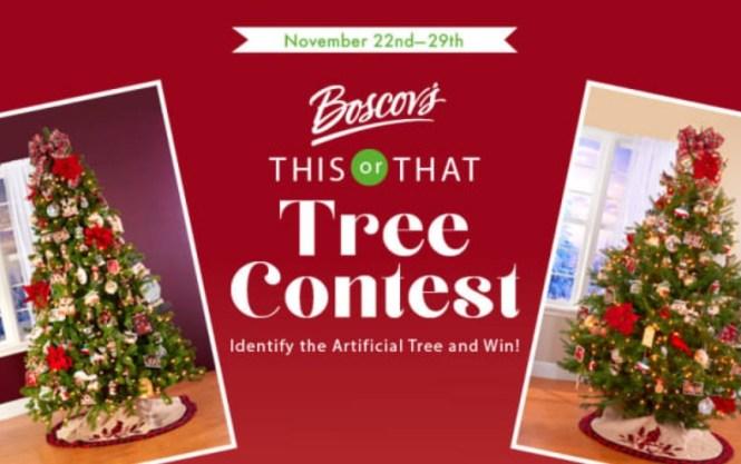 Boscov This Or That Tree Contest