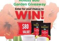 Sun Gro Horticulture Black Gold Holiday Bulb Garden Giveaway