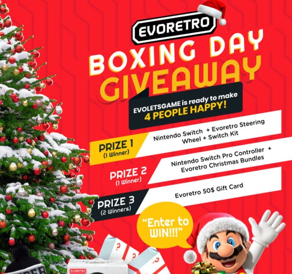 Evoretro Boxing Day Giveaway