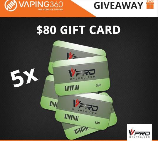 Vaping360 MyVpro Gift Card Giveaway