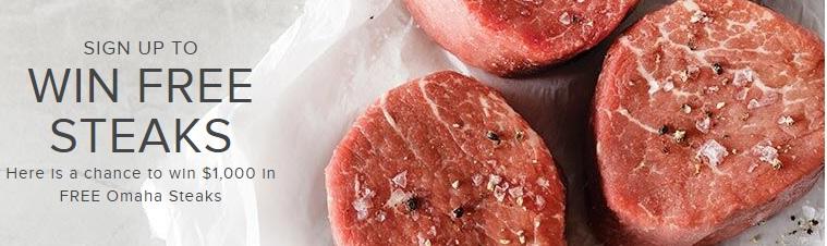 Omaha Steaks Quarterly Free Steaks Giveaway