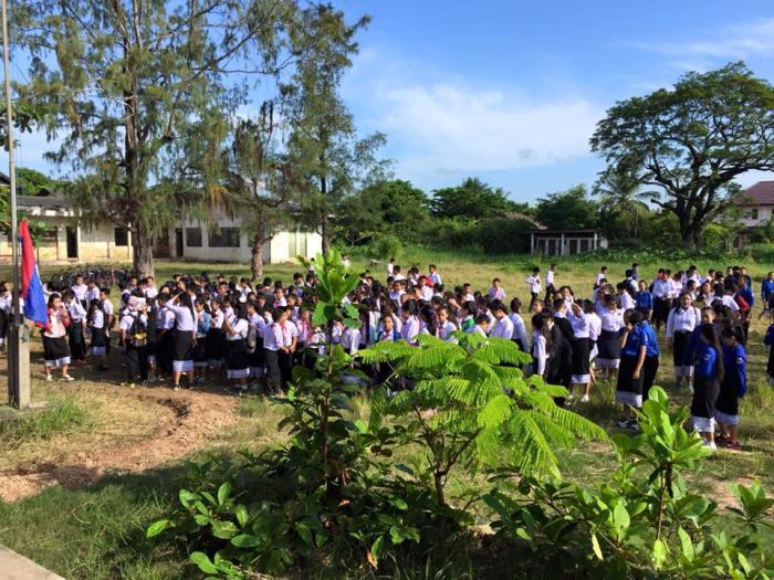 Students Morning Flag Raising