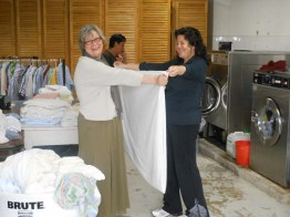 Costa Rica - Laundry time at the senior center