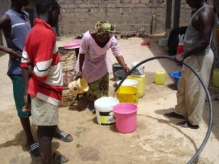 New well in The Gambia