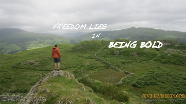 Photo: Lake District, England Quote: Robert Frost