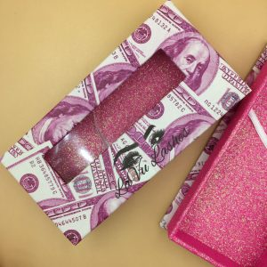 wholesale mink lashes money packaging