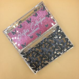 create your own black butterflies eyelash packaging