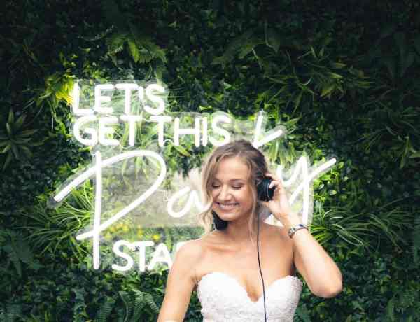 Bride wedding DJ