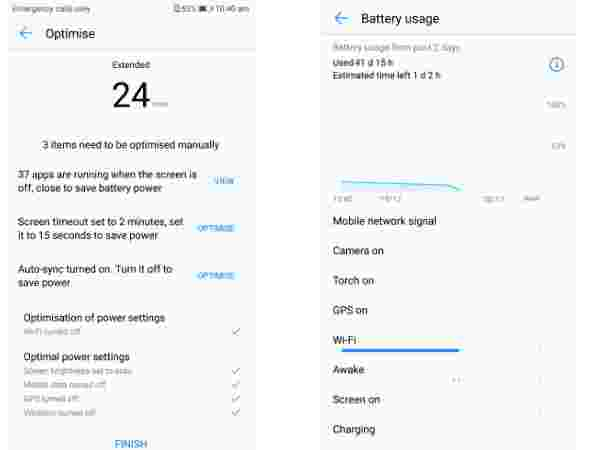 Smart battery usage features