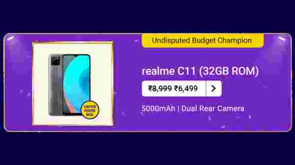 Realme C11 (MRP: Rs. 8,999, After Discount Price: 6,499)