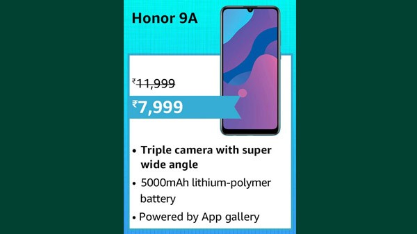 33% Off On Honor 9A