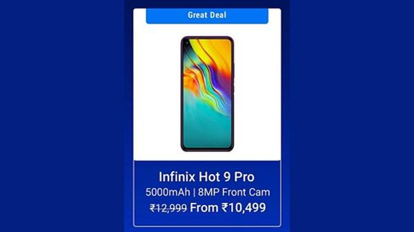19% Off On Infinix Hot 9 Pro