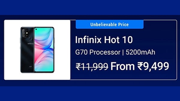 20% Off On Inifnix Hot 10