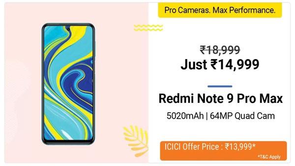 21% Off On Redmi Note 9 Pro Max