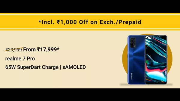 9% Off On Realme 7 Pro