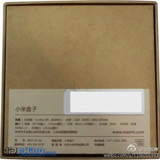 leaked xiaomi tv packaging