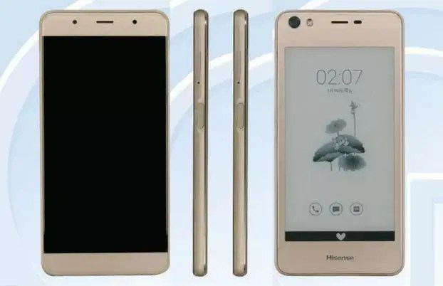 Hisense's new device passes through TENAA, has a secondary e-ink display