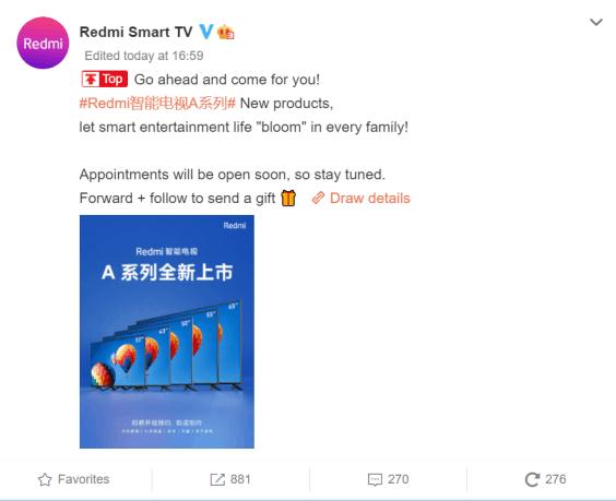 Redmi Smart TV A serisi