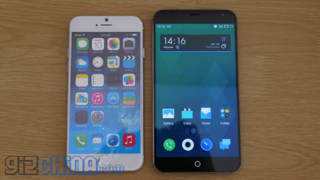 iphone 6 vs meizu mx4