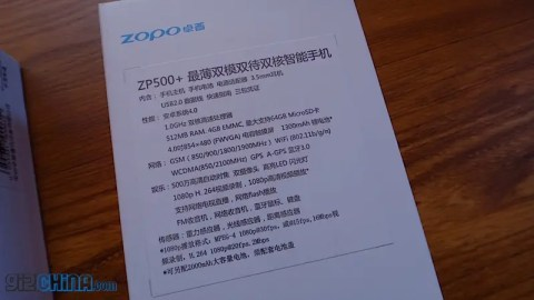 dual core mt6577 zopo zp500+ specification
