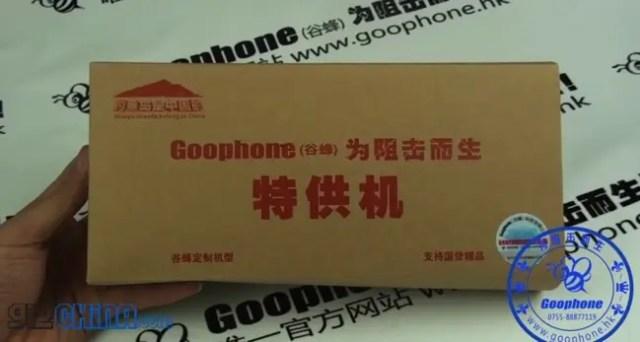 goophone n2 samsung galaxy note 2 clone packaging