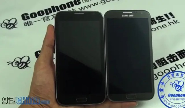 goophone n2 samsung galaxy note 2 clone with real note