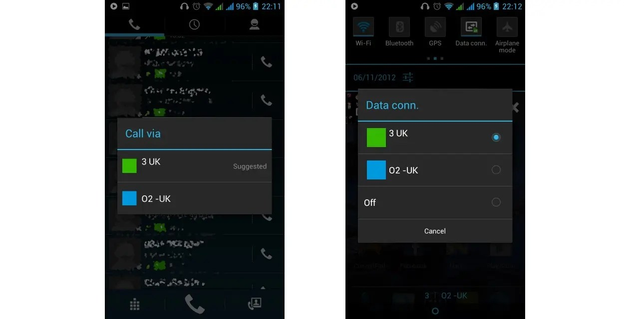 Connection Data1 >> How to manage your dual-sim Android phone - Gizchina.com