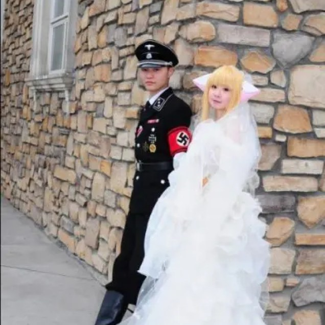 nazi chinese wedding cosplay