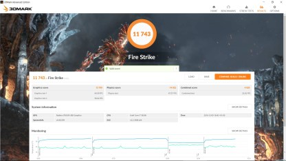 Resultado Firestrike Drivers Crimson ReLive 16.12.1