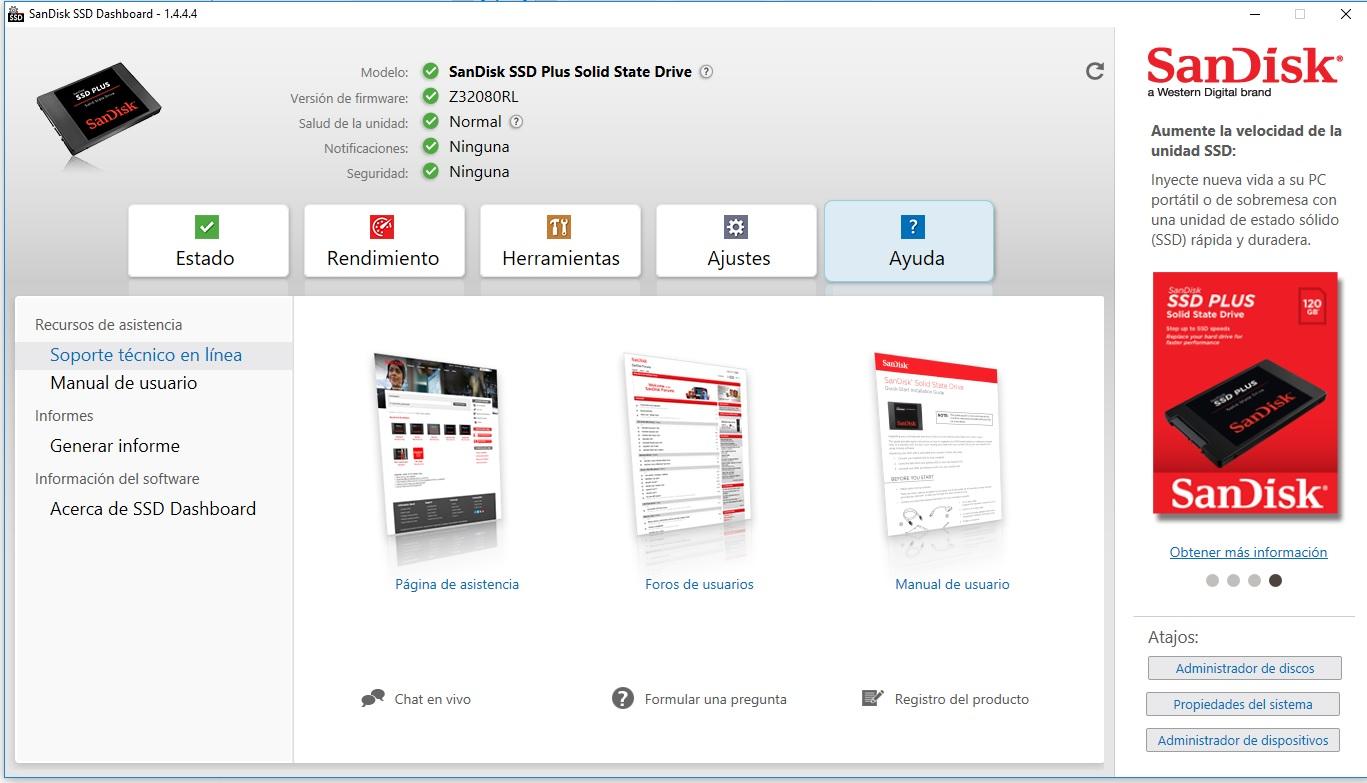 Sandisk SSD Plus 240 GiB: pasa por nuestra central de análisis