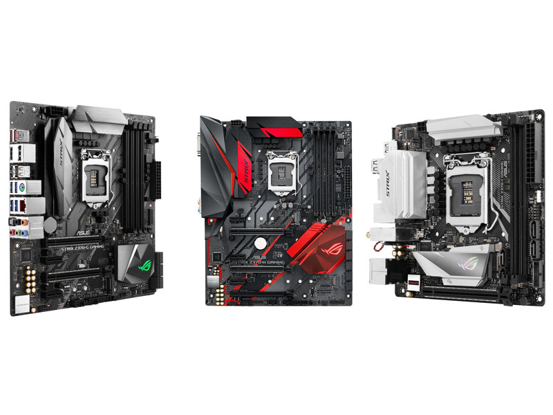 Asus ROG STRIX Z370-G, Z370-H y Z370-I Gaming, comparativa