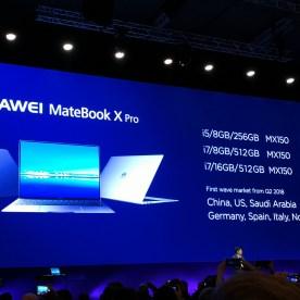 Huawei MateBook X Pro, modelos
