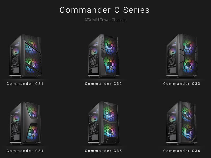 Nueva familia de cajas Commander C de Thermaltake