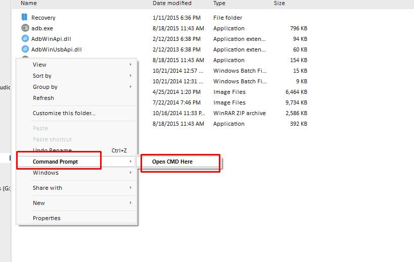 cmd in folder - Guide To Unlock Bootloader Of Xiaomi MI A1 (Working Method)