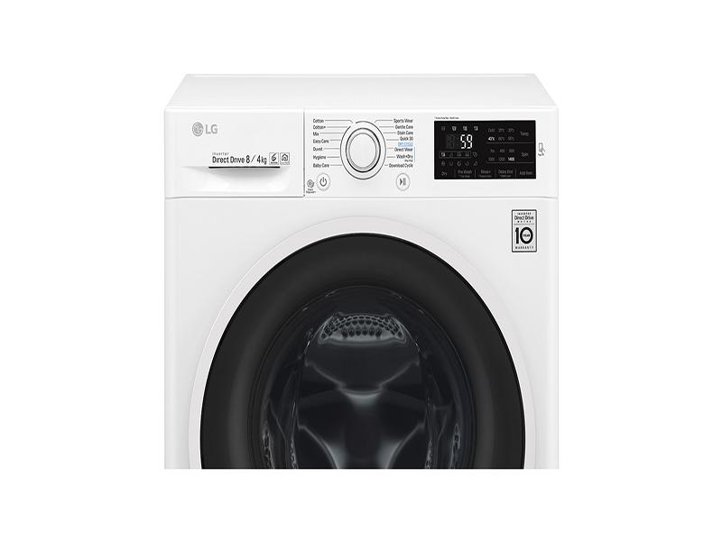 LG F4J6TM0WC, lavasecadora que cuida de tu ropa con 6 movimientos