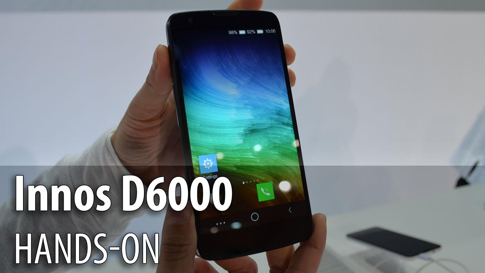 Innos D6000 el móvil con una batería que dura 5 días