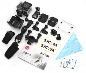 The SJCAM X1000 comes with many accessories.