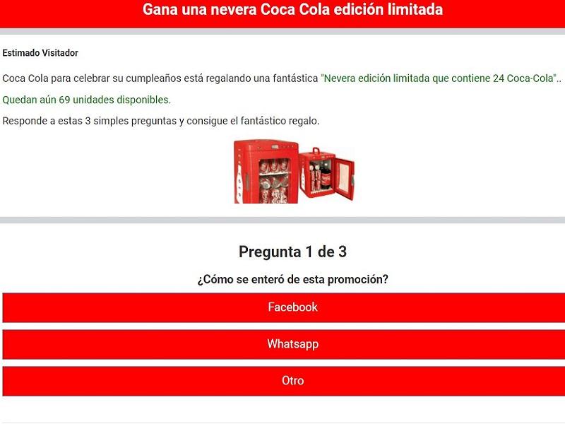 Vinci un frigo Coca Cola