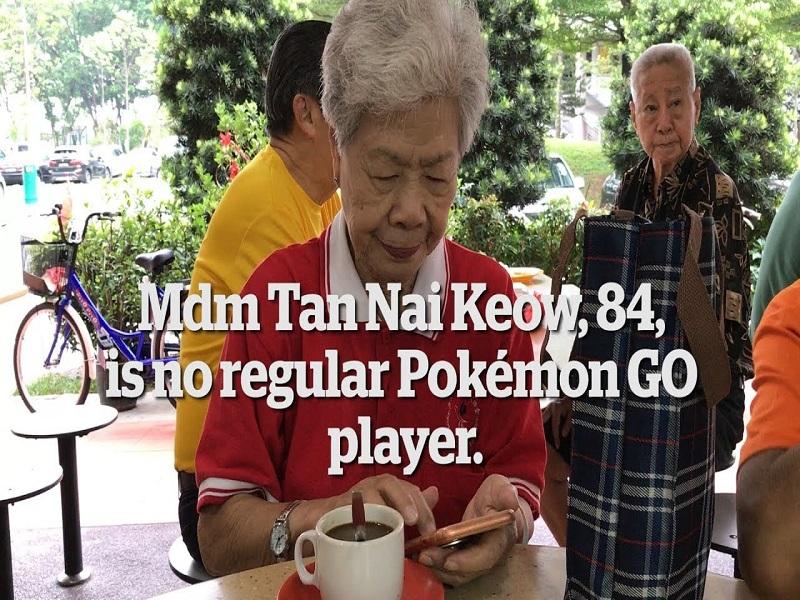 Jugadora de Pokémon de 84 años