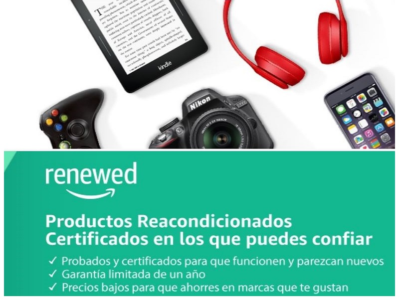 Amazon Renewed: ahorra comprando productos reacondicionados