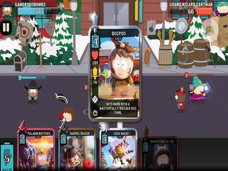 South Park Phone Destroyer para Android, un juego de cartas