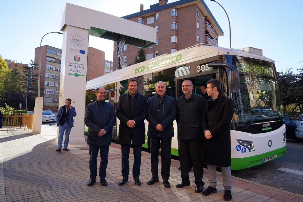La primera línea de autobuses eléctricos de España.