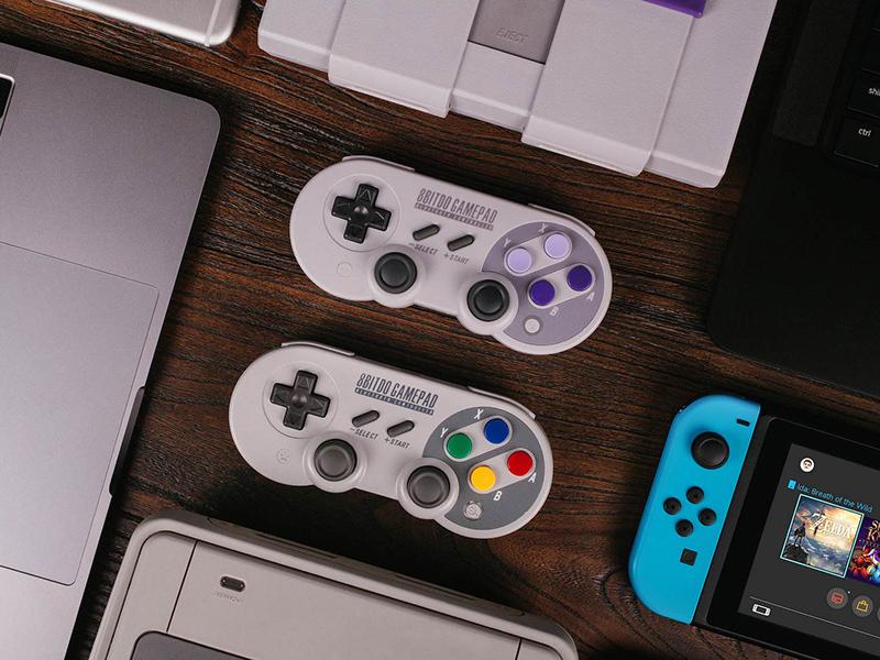 8Bitdo SF30 Pro, mando compatible con Nintendo Switch y móviles