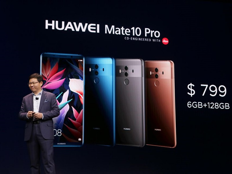 #CES2018: Huawei lanza el Mate 10 Pro en EEUU y presenta su sistema WiFi Q2
