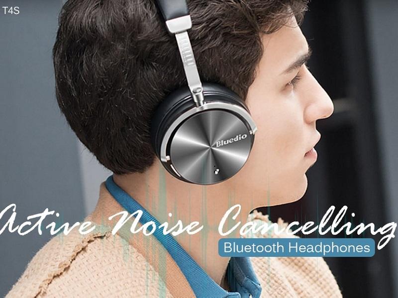 Bluedio T4S, auriculares Bluetooth con cancelación de ruido activo
