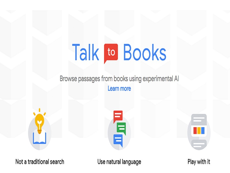 Talk to Books, un nuevo buscador de Google