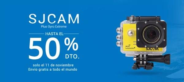 SJCAM est l'une des marques qui seront présentes au cours de cet évènement du 11 novembre d'Aliexpress