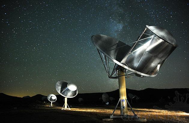 Alien Telescope Array (ARA) szuka sygnałów radiowych wysłanych przez potencjalnych kosmitów /fot. SETI