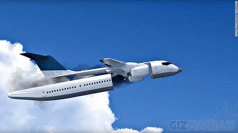 Innowacyjna kabina odłączana od samolotu w przypadku zbliżającej się katastrofy